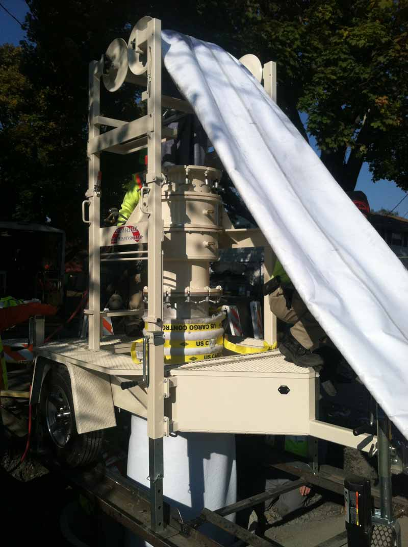 Outside of Providence, Perma-Liner™ pipe lining demos are in the works!